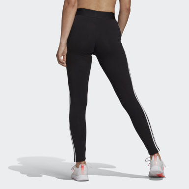 Women Athletics Black LOUNGEWEAR Essentials 3-Stripes Leggings