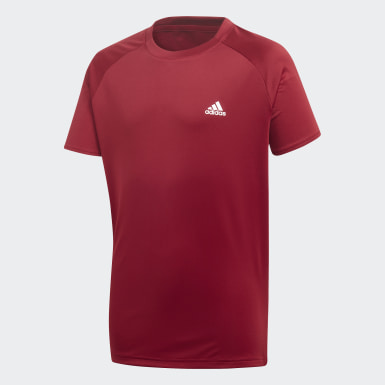 Camiseta Club Burgundy Meninos Tennis