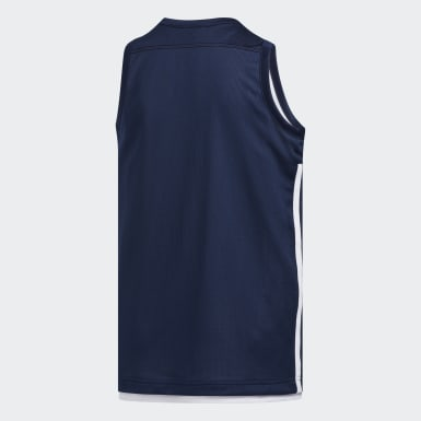 Børn Basketball Blå 3G Speed Reversible trøje