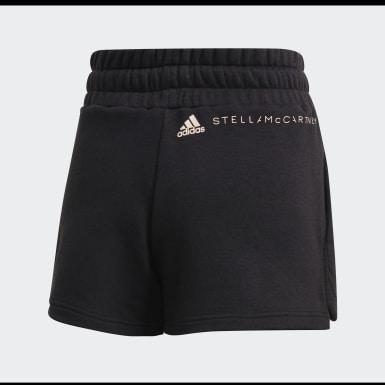 Calções em Fleece Preto Mulher adidas by Stella McCartney