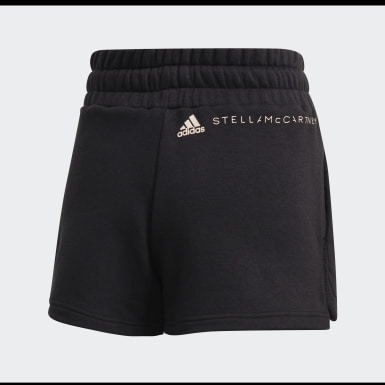 Short Sweat Fleece Nero Donna adidas by Stella McCartney