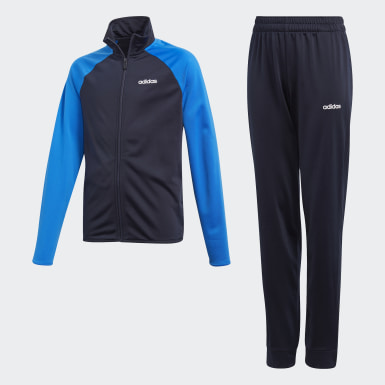 Pants Con Sudadera Yb Ts Entry Azul Niño Training