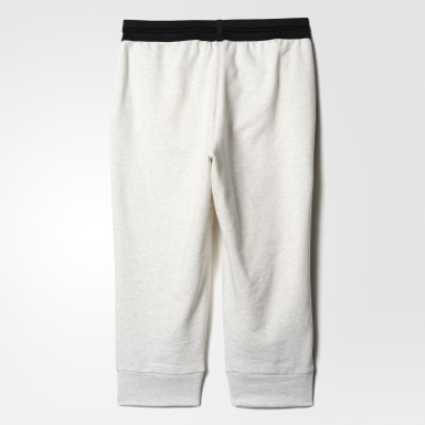 белый Укороченные брюки Cotton Fleece