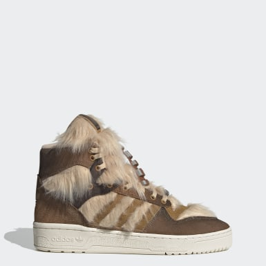 Men Originals Brown Rivalry Hi Star Wars Shoes