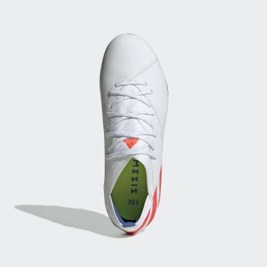 Børn Fodbold Hvid Nemeziz Messi 19.1 Firm Ground støvler