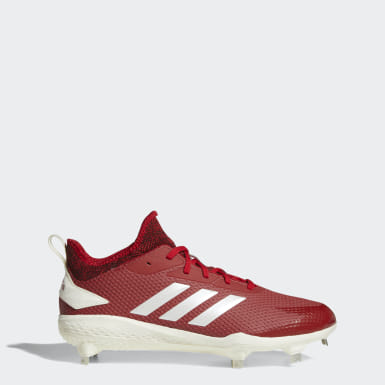Men's Baseball Red Adizero Afterburner V Cleats
