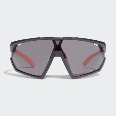 Padel Tennis Sort SP0001 Shiny Black Injected Sport solbriller