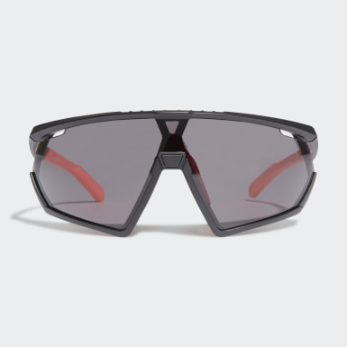 Padel-Tennis SP0001 Shiny Black Injected Sportsonnenbrille Schwarz