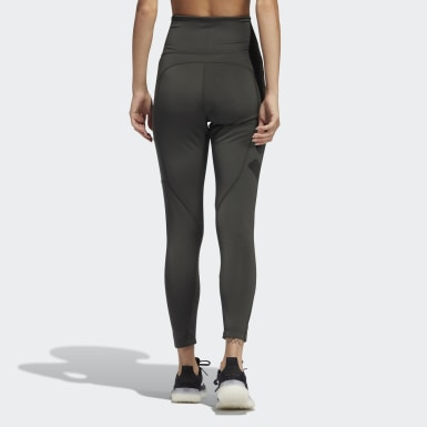 Women's Essentials Green adidas x Zoe Saldana Collection Women's Solid 7/8 Tights