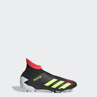 Children Soccer Black Predator 20.3 Firm Ground Cleats