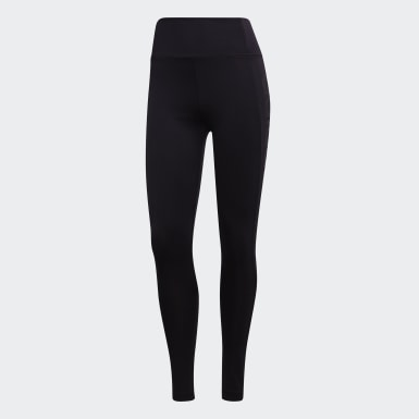 Frauen Running Design 2 Move High Rise Logo Tight Schwarz