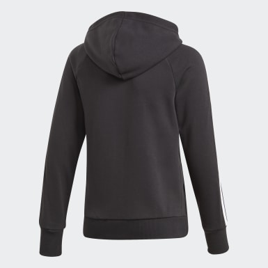 Youth Training Black Must Haves 3-Stripes Hoodie