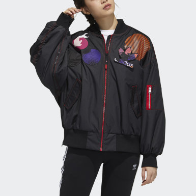 Women's Originals Black CNY Patch Bomber Jacket