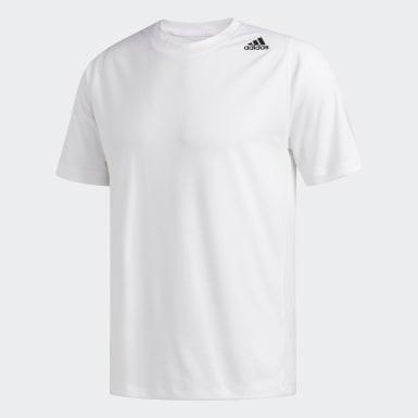 Camiseta FreeLift Sport Fitted 3 Rayas Blanco Hombre Training