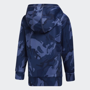 Children Training Blue Core Camo Hoodie