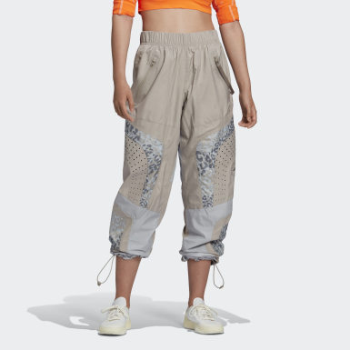 Women's adidas by Stella McCartney Beige adidas by Stella McCartney Training Pants