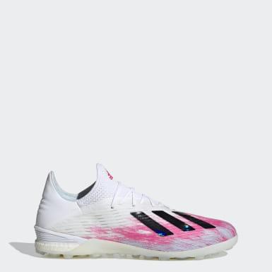 Zapatos de fútbol X 19.1 Pasto Sintético Blanco Hombre Fútbol