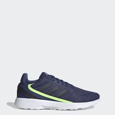 Men Sport Inspired Blue Nebzed Shoes