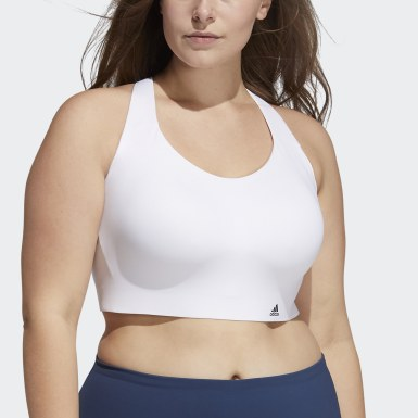 Women Cross Training White Ultimate Bra (Plus Size)