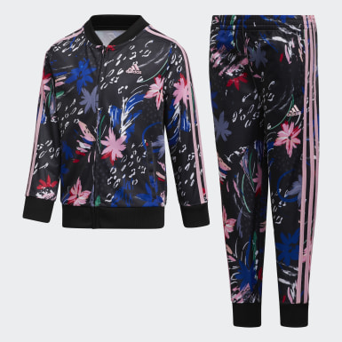 Children Training Printed Jacket and Joggers Set