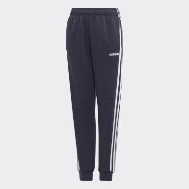 Boys Athletics Blue Essentials 3-Stripes Pants