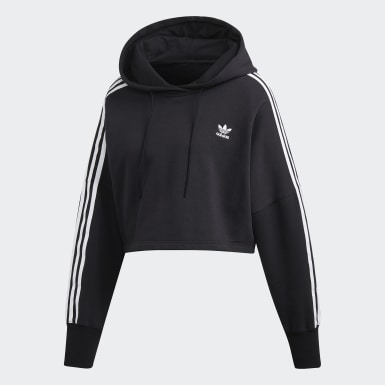 Women's Originals Black Cropped Hoodie