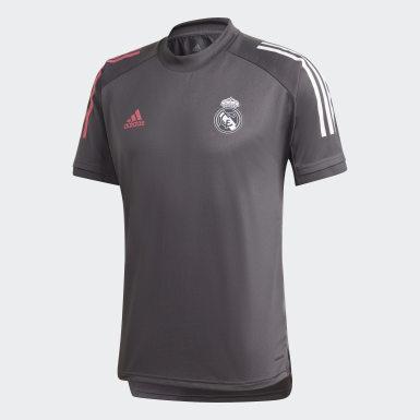 Camisa Treino Real Madrid Cinza Homem Futebol