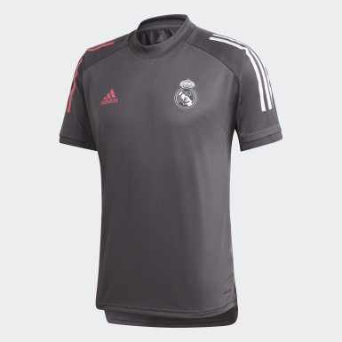 Men's Soccer Grey Real Madrid Training Jersey