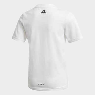Boys Training White Cotton T-Shirt