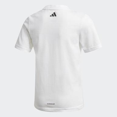 T-shirt Cotton Blanc Garçons Training