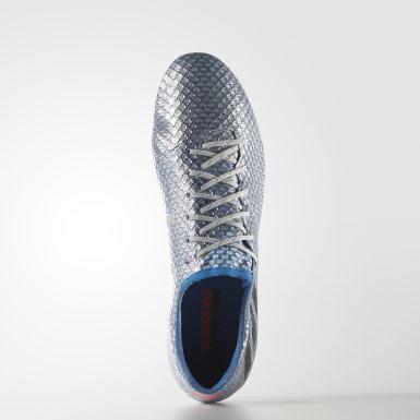 Zapatos de fútbol para pasto natural Messi 16.1 Plata Hombre Fútbol