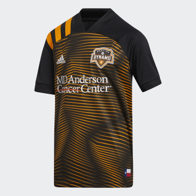 Youth Soccer Black Houston Dynamo Away Jersey