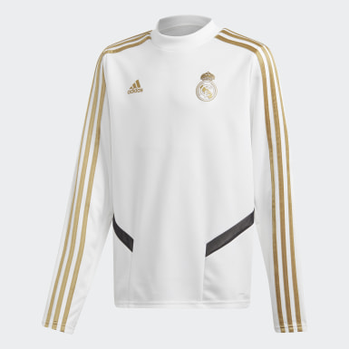 Boys Football White Real Madrid Training Top