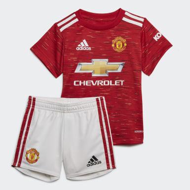 красный Комплект: футболка и шорты Манчестер Юнайтед 20/21 Baby