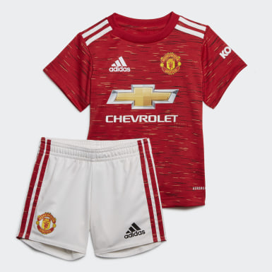 Manchester United 20/21 Home Baby Kit Czerwony