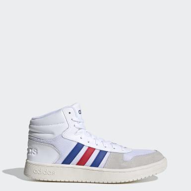 Sapatos Hoops 2.0 Mid Branco Desportos De Inverno