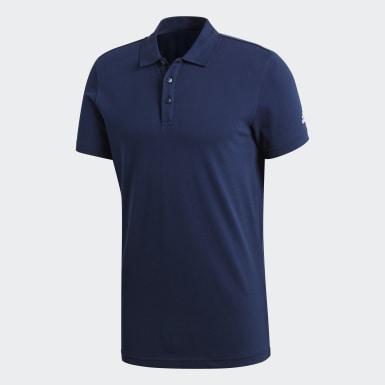Men Sport Inspired Blue Essentials Classics Polo Shirt
