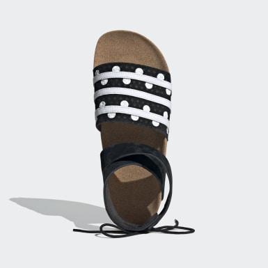 Sandalia Adilette Ankle Wrap Negro Mujer Originals