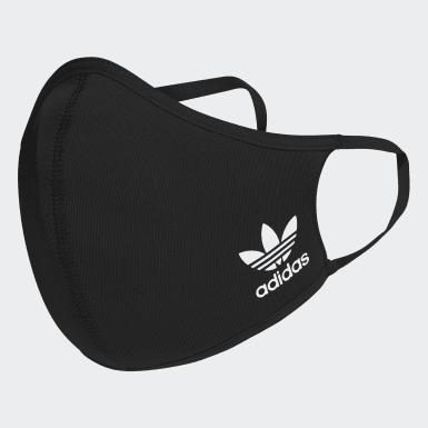 Athletics Sort 3-Pack ansigtsmasker, XS/S