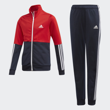 Genç Sport Inspired Red Polyester Eşofman Takımı