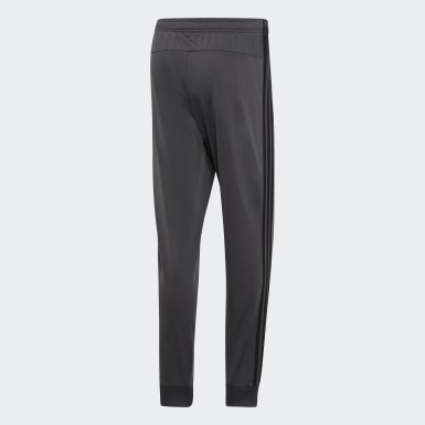 Men's Training Grey Essentials 3-Stripes Tapered Tricot Pants