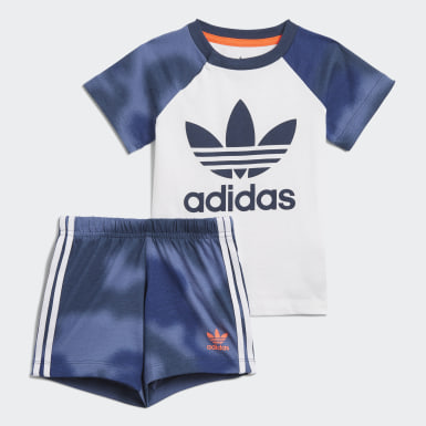 Completo Camo Print Shorts and Tee Bianco Ragazzo Originals