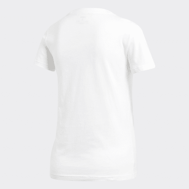 Camiseta Essentials Linear Blanco Mujer Athletics