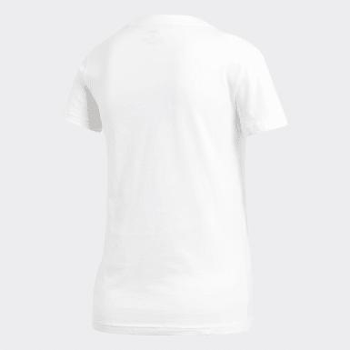 Frauen Athletics Essentials Linear T-Shirt Weiß