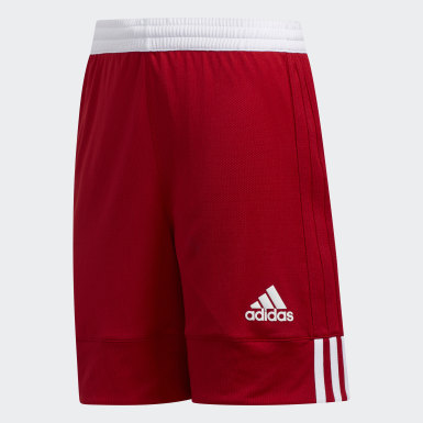 Kinderen Basketbal rood 3G Speed Reversible Short
