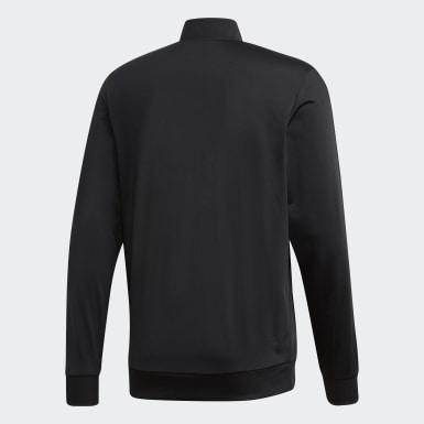 Veste de survêtement Essentials 3-Stripes Tricot noir Hommes Entraînement