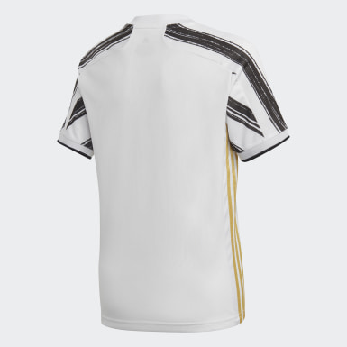 Boys Football White Juventus Home Jersey