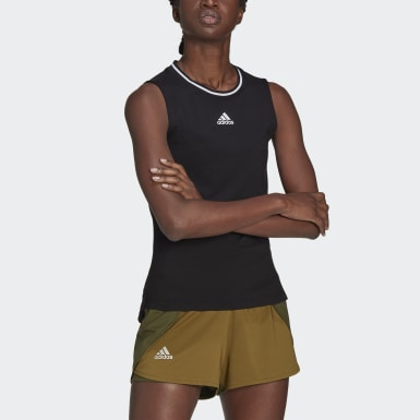 Women's Tennis Black Tennis Match Tank Top