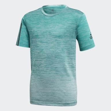 Boys Yoga Grøn Gradient T-shirt