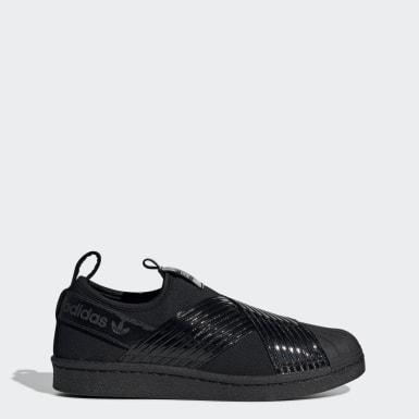 Women Originals Black Superstar Slip-on Shoes